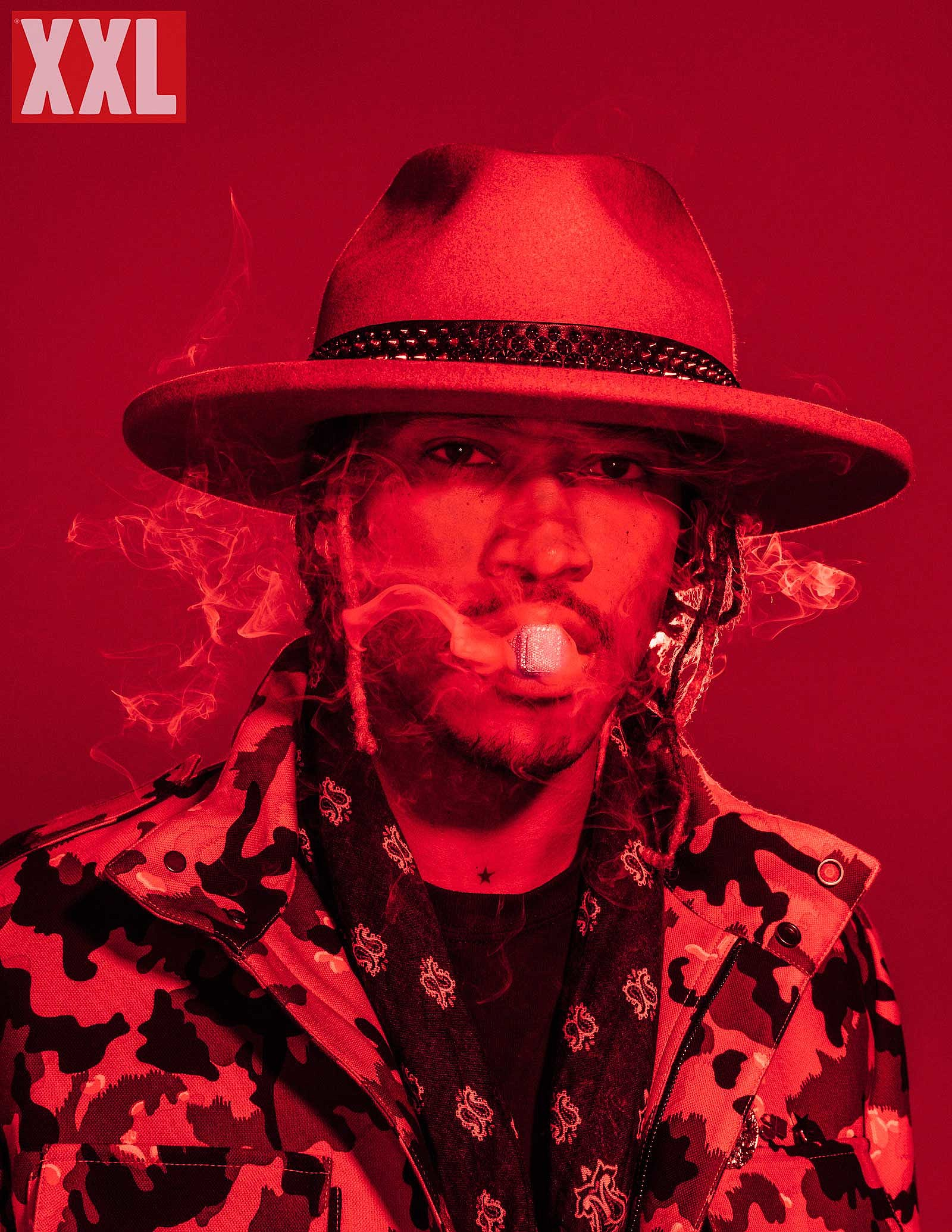 Behind-The-Scenes Future's XXL Cover Shoot diamond red