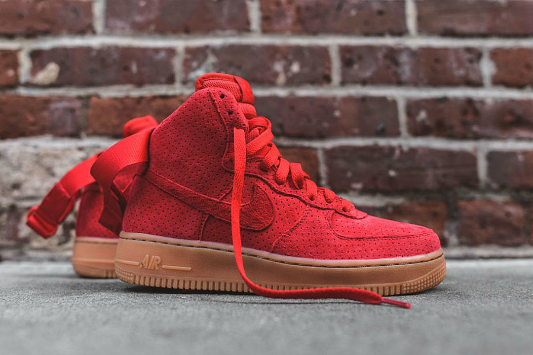 nike air force 1 suede red shoes