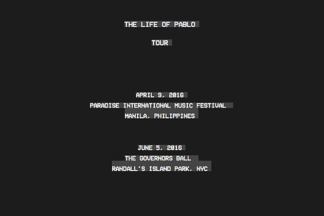 kanye west the life of pablo tour