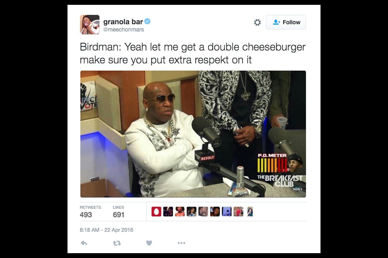 Birdman meme 1 12 funny memes featuring birdman's 'the breakfast club' interview xxl