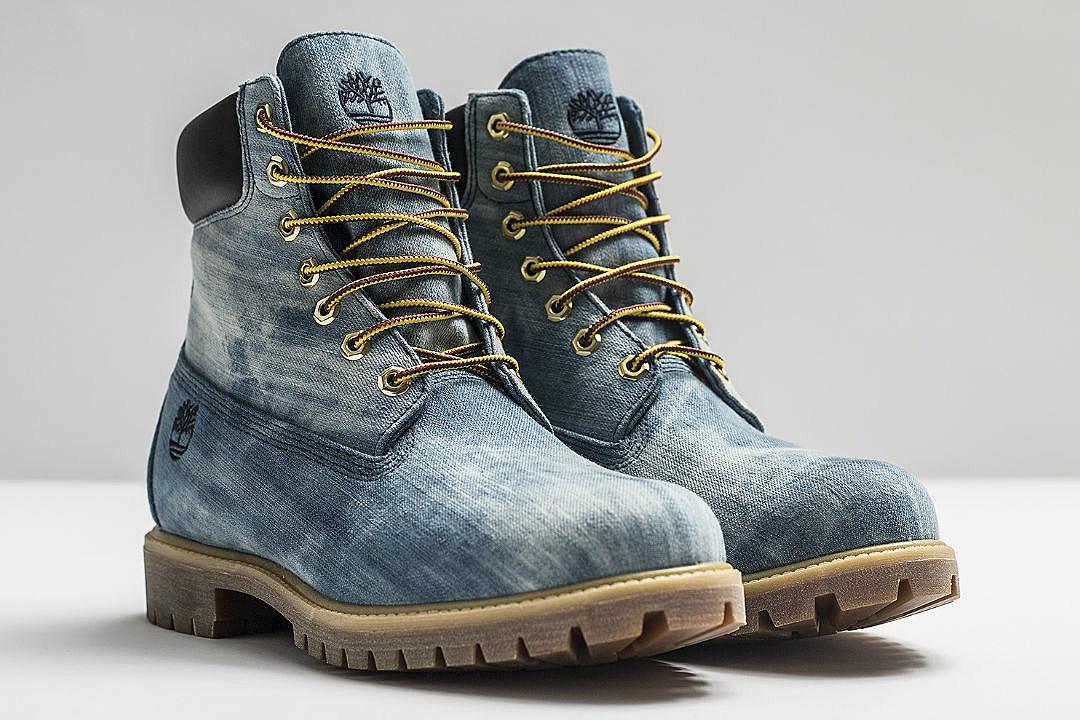 Tims Black Denim Shoes