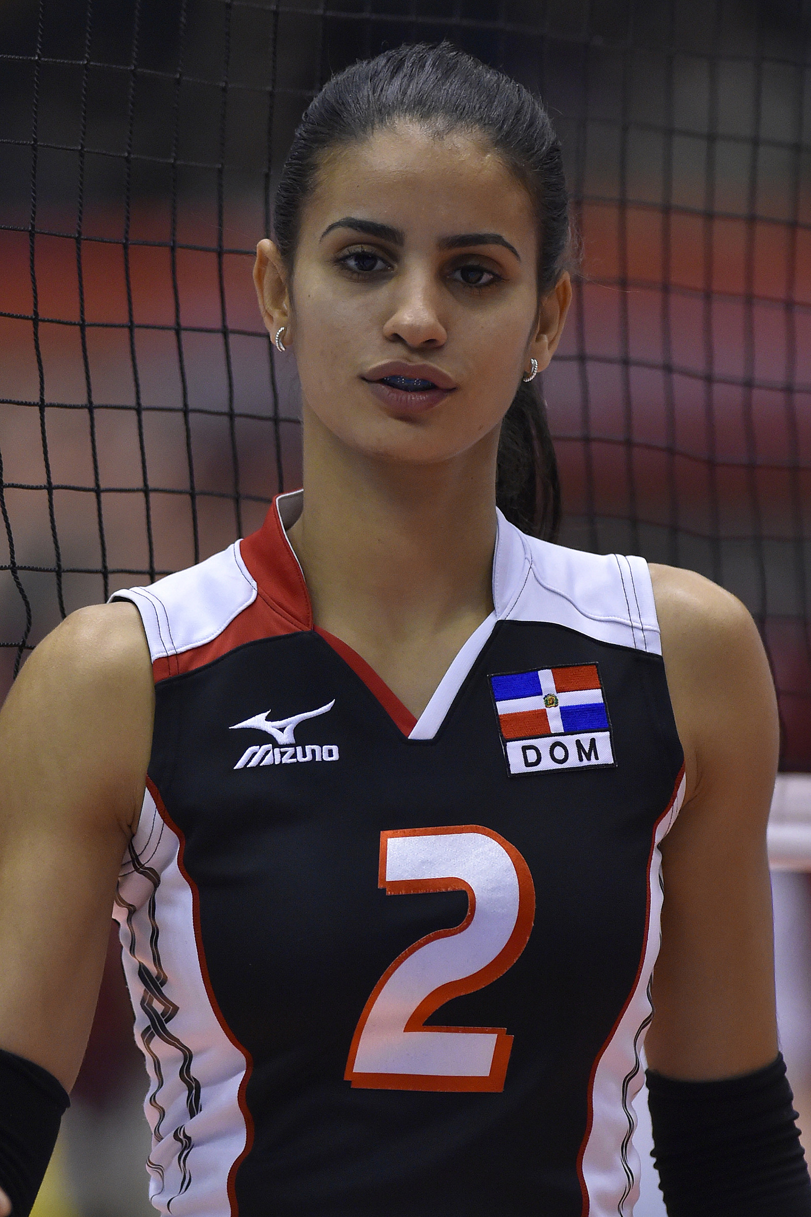 Busty volleyball player