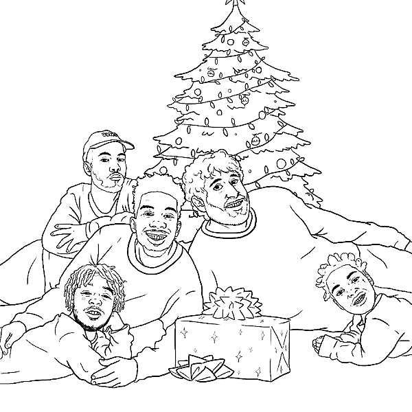 Lil Uzi Vert 21 Savage Featured In Hip Hop Holiday Coloring Book