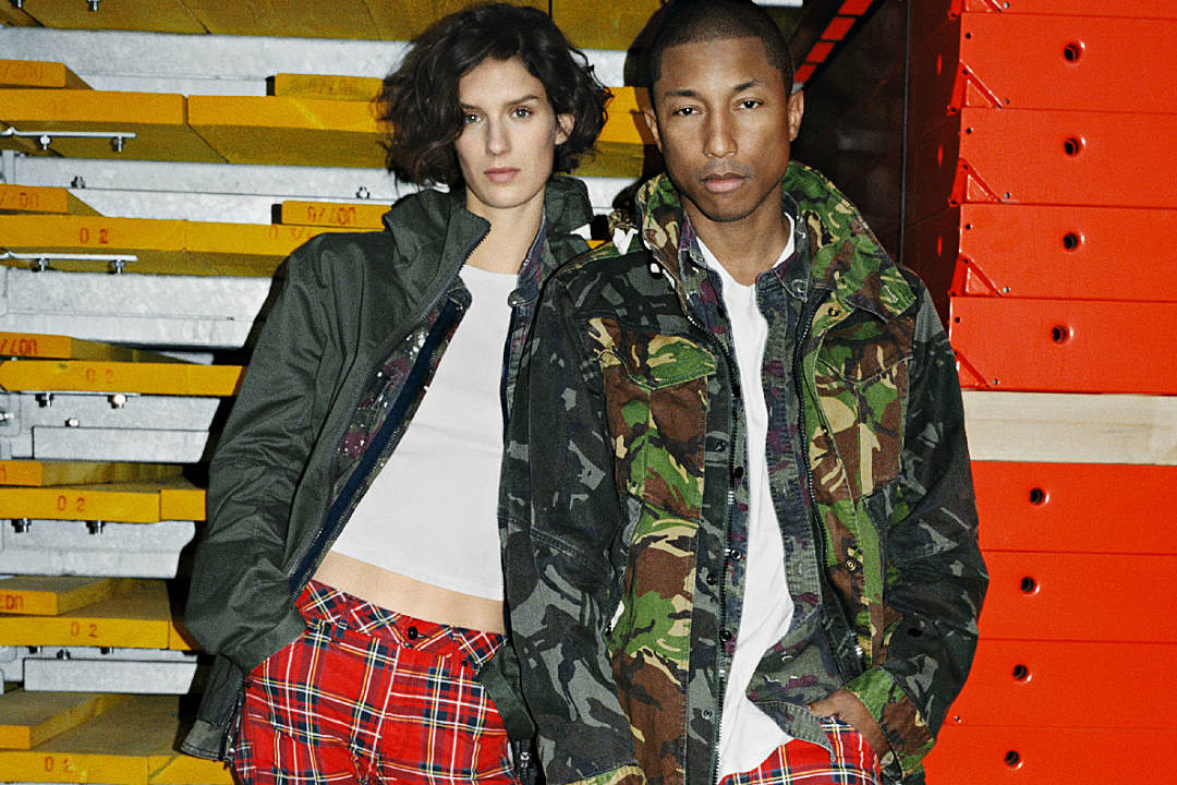 pharrell williams and g star raw launch spring summer 2017 elwood x25 campaign xxl. Black Bedroom Furniture Sets. Home Design Ideas