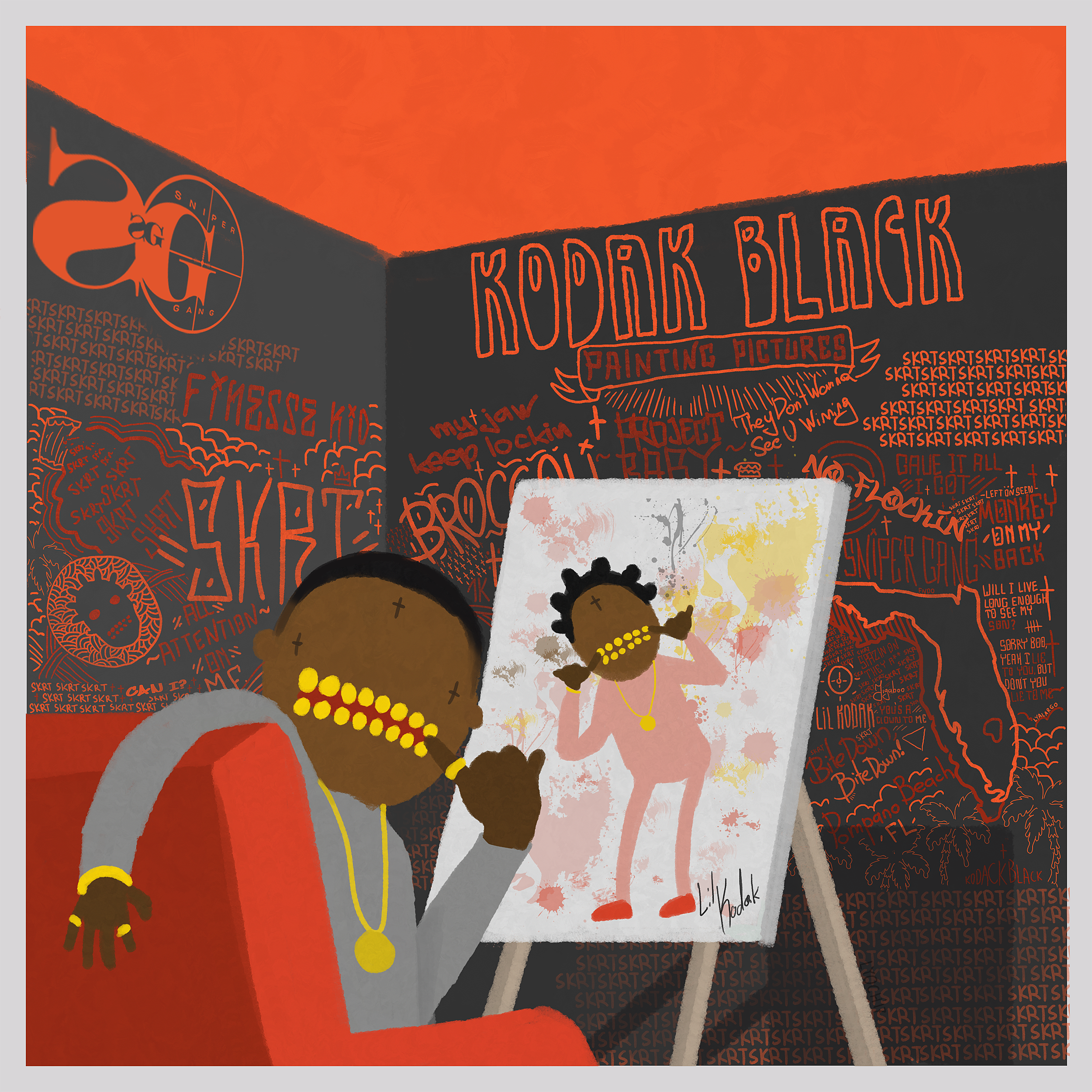 Kodak Black I Be Painting Pictures But I Picture Paint