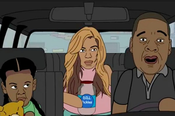 watch this hilarious cartoon featuring jay z and beyonce u2019s trip to the drive