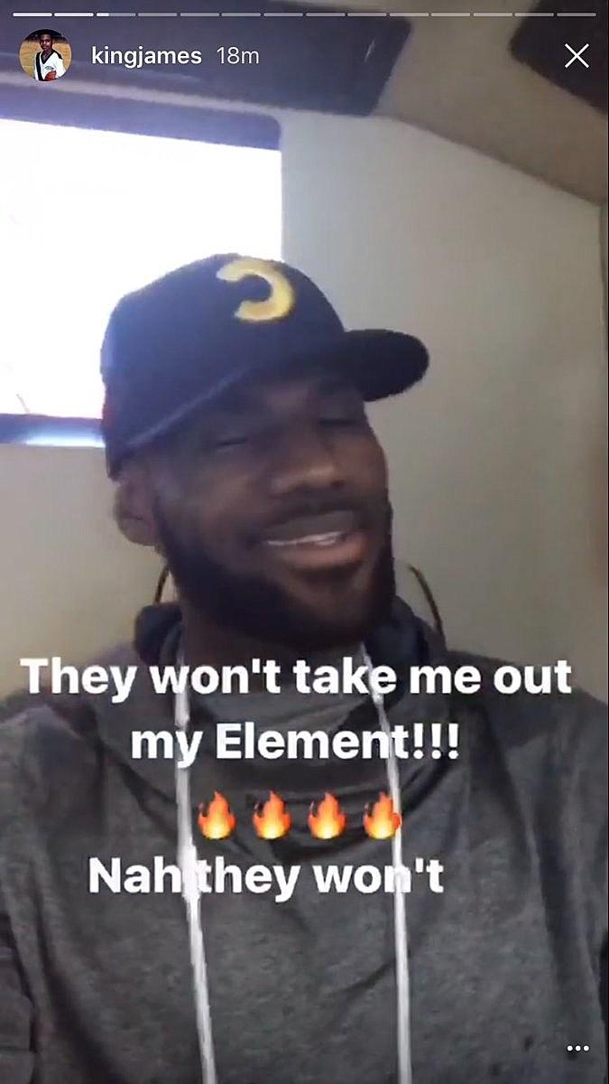 KingJames via Instagram