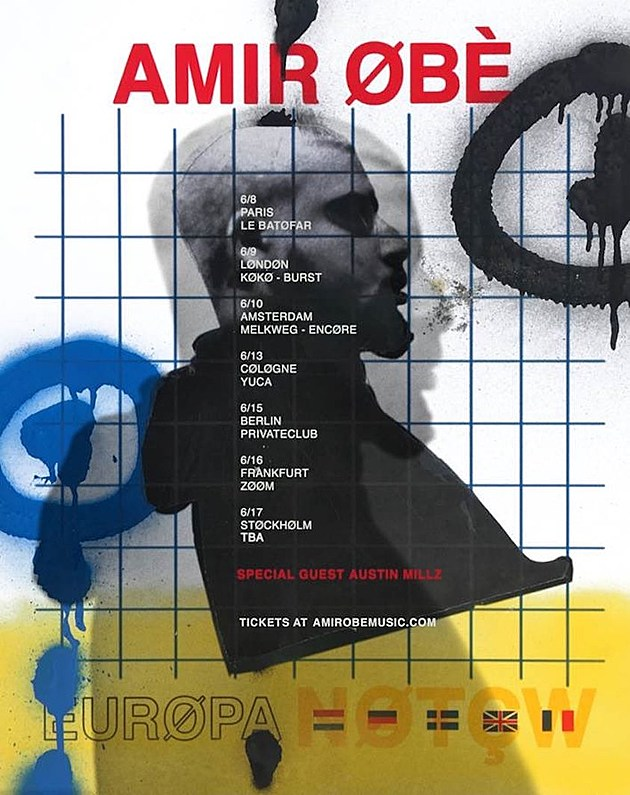 Amir Obe Is Heading Out on a European Tour