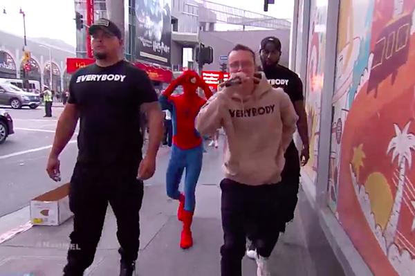 logic performs black spiderman on jimmy kimmel live xxl