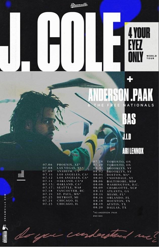 J cole concert dates