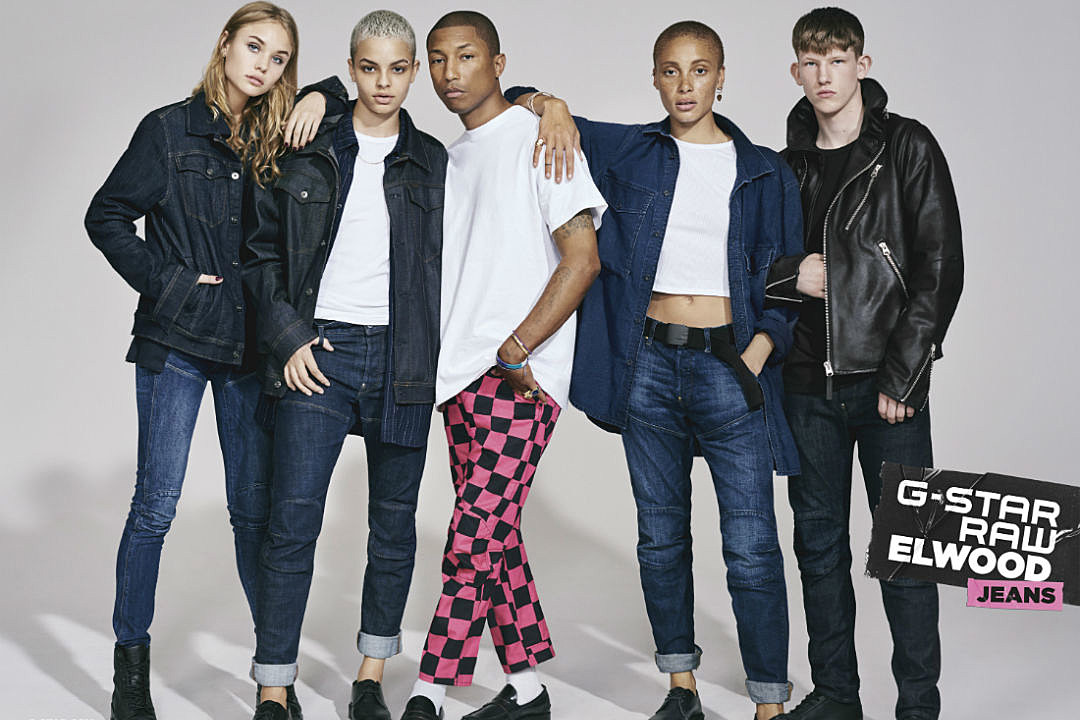 pharrell stars in gstar raw�s newest campaign ad for fall