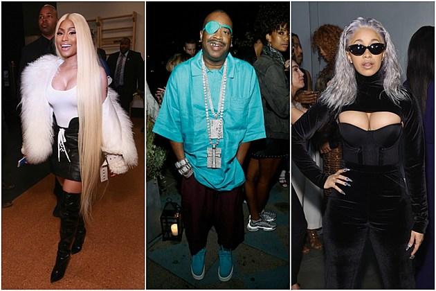 Nicki Minaj, Slick Rick and Cardi B  Attend 2017 New York Fashion Week