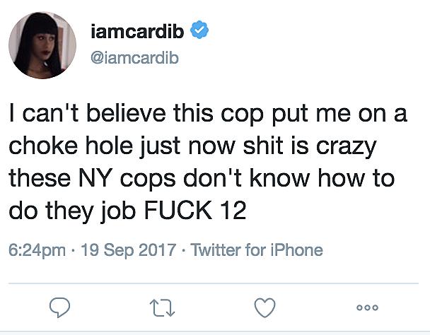 @iamcardib via Twitter