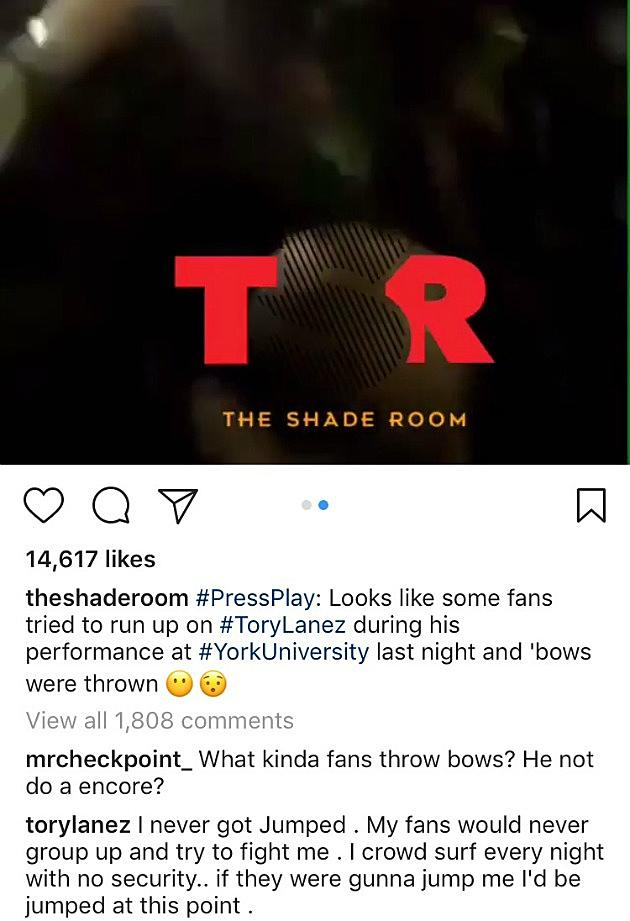 Tory Lanez Denies He Was Jumped During Performance at York ...