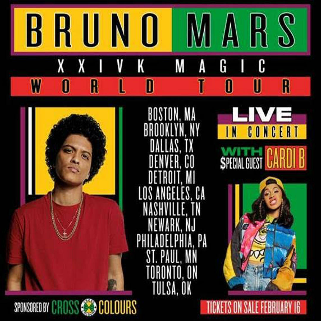 cardi b joins bruno mars 24k magic tour madamenoire. Black Bedroom Furniture Sets. Home Design Ideas