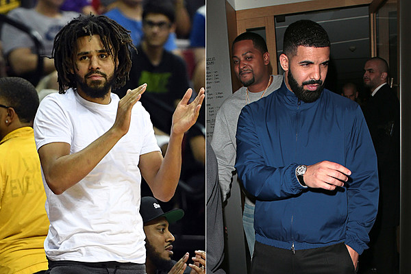 J Cole Eyebrows Vs Drakes J. Cole Shares Text Dr...