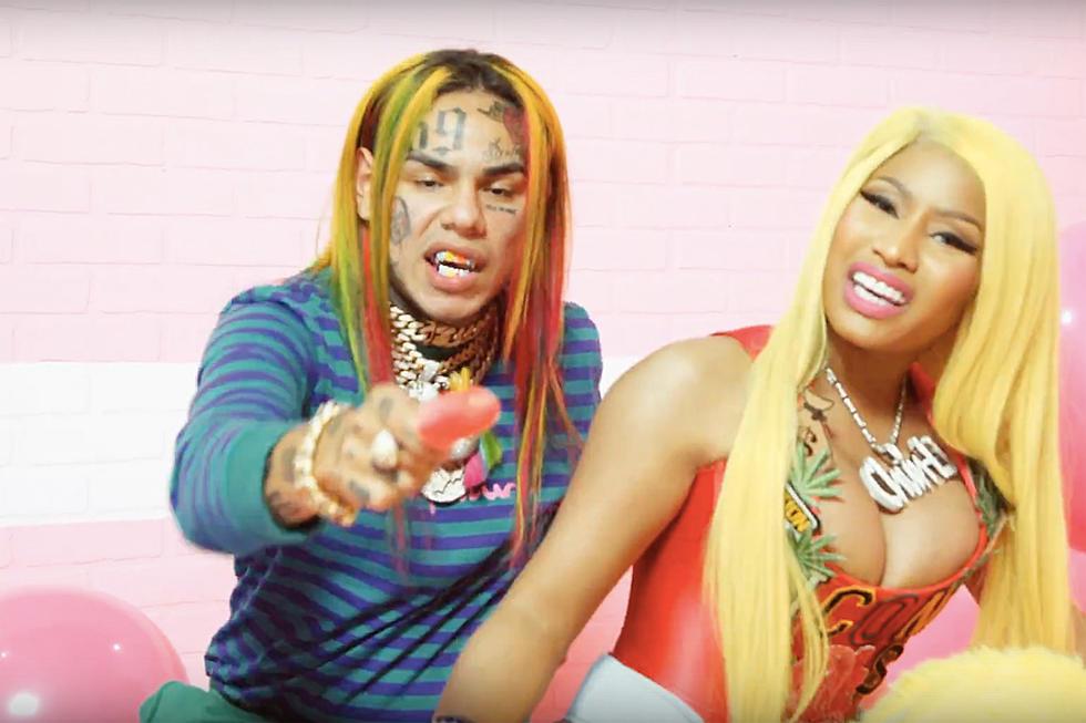 6ix9ine Nicki Minaj And Murda Beatz Drop Colorful Fefe Video Xxl