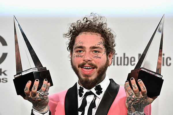 Post Malone Wins Favorite Album Rap/Hip-Hop at 2018 AMAs - XXL