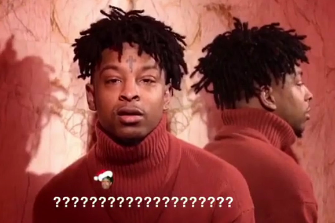 21 Savage Christmas.21 Savage Forgets The Words To Jingle Bells Power102jamz