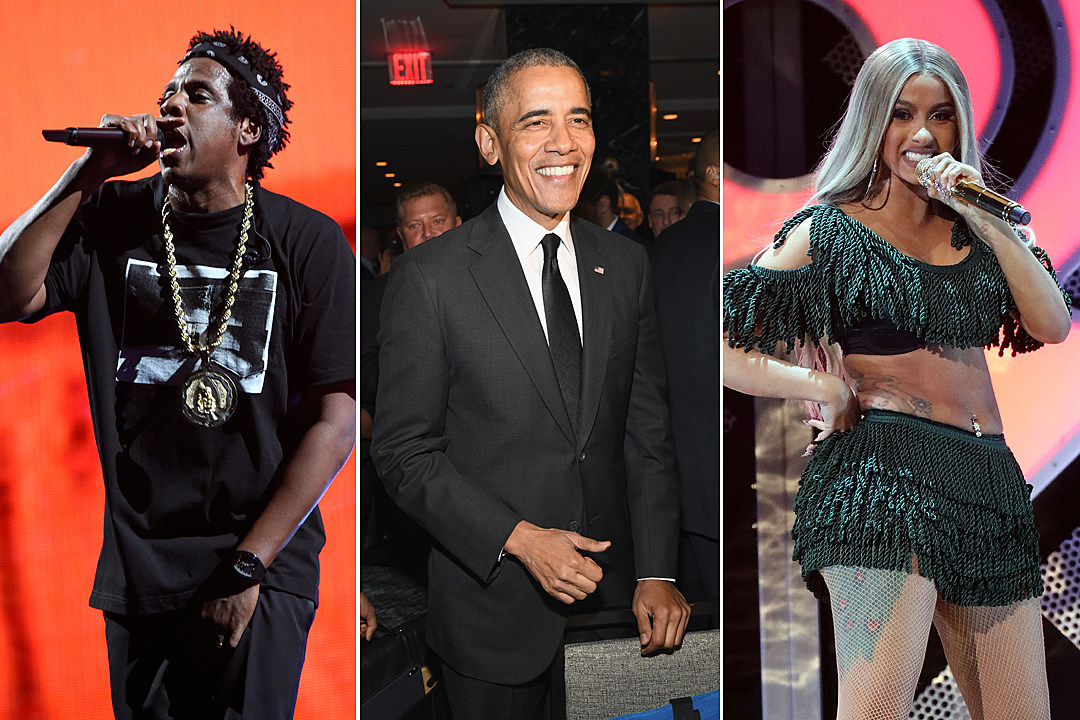 Barack Obama Picks Jay-Z, Cardi B and More for Year-End