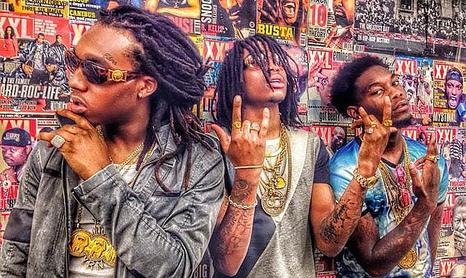 Migos put out music at a Offset Migos Girlfriend