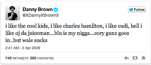 Danny Brown Disses Wale
