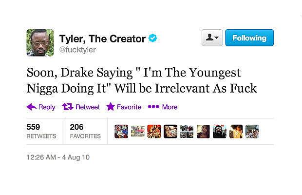 Tyler Disses Drake