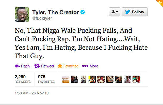 Tyler Disses Wale