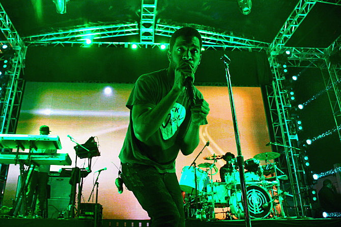 rappers fight on stage kid cudi